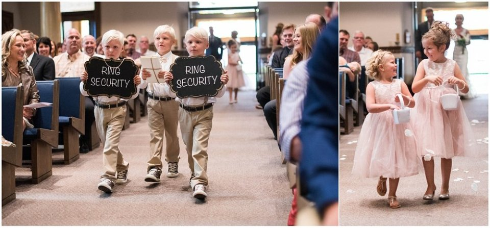 Ring security for ring bearers at wedding | Maddie Peschong Photography