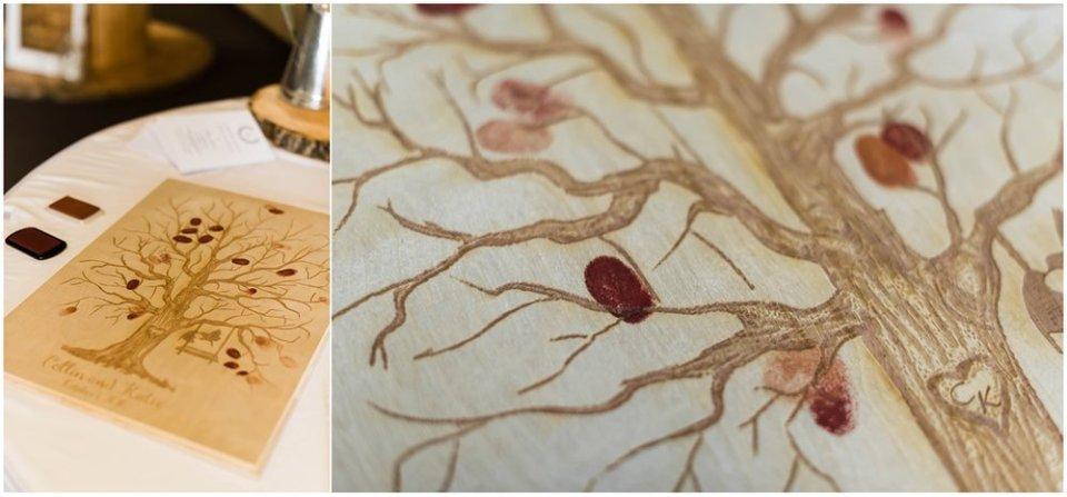 Tree fingerprint guest book idea | Maddie Peschong Photography