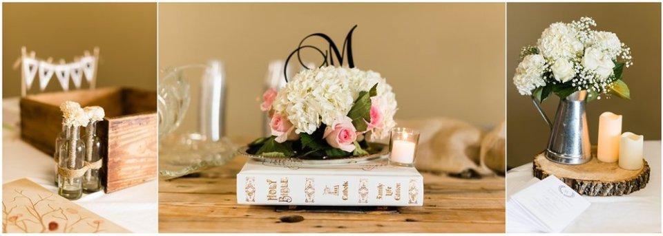 Classy fall South Dakota wedding reception decor | Maddie Peschong Photography