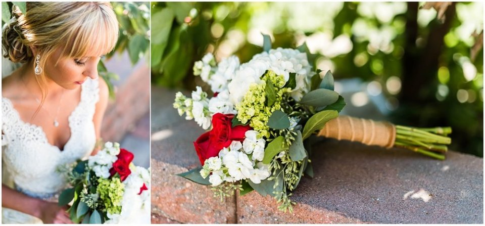 Fall red rose wedding bouquet | Maddie Peschong Photography