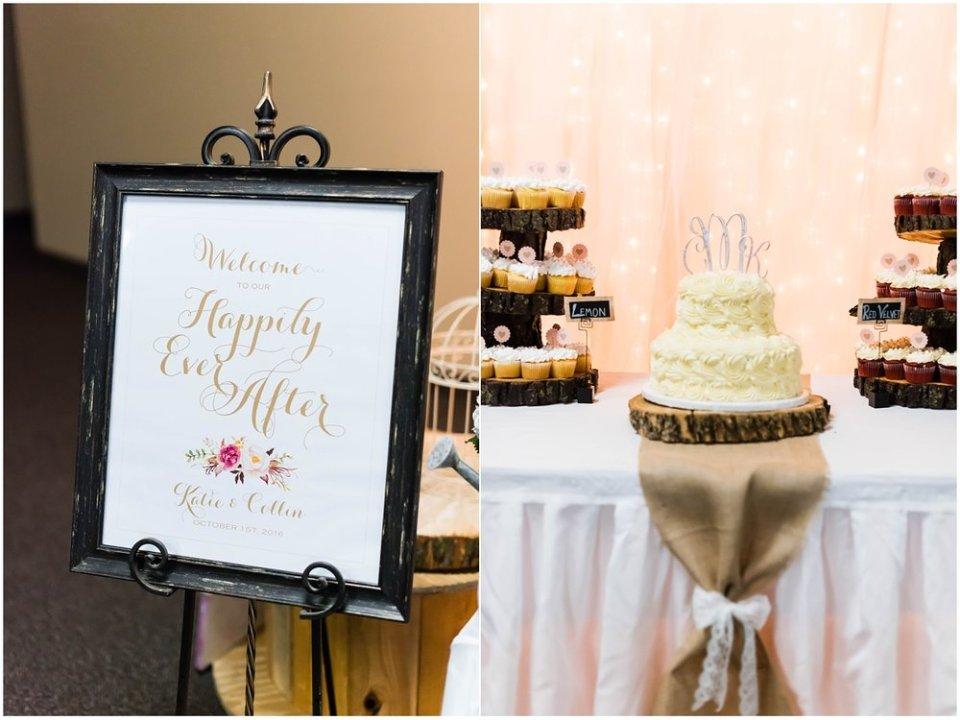 Fall burlap wedding decor | Maddie Peschong Photography