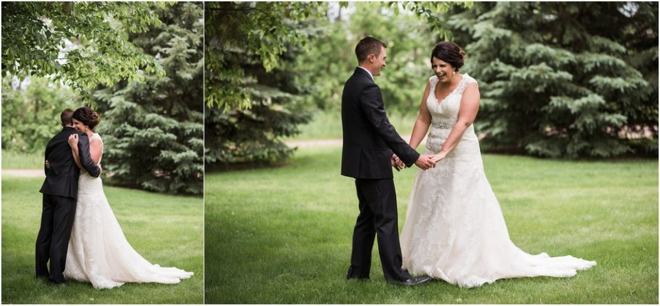 Bride and groom first look embrace | Maddie Peschong Photography