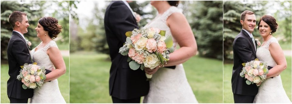 Spring blush and mint wedding bouquet | Maddie Peschong Photography