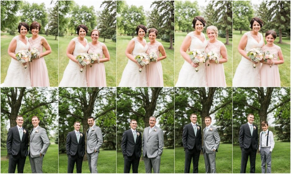 Gray and blush wedding party individual photos | Maddie Peschong Photography