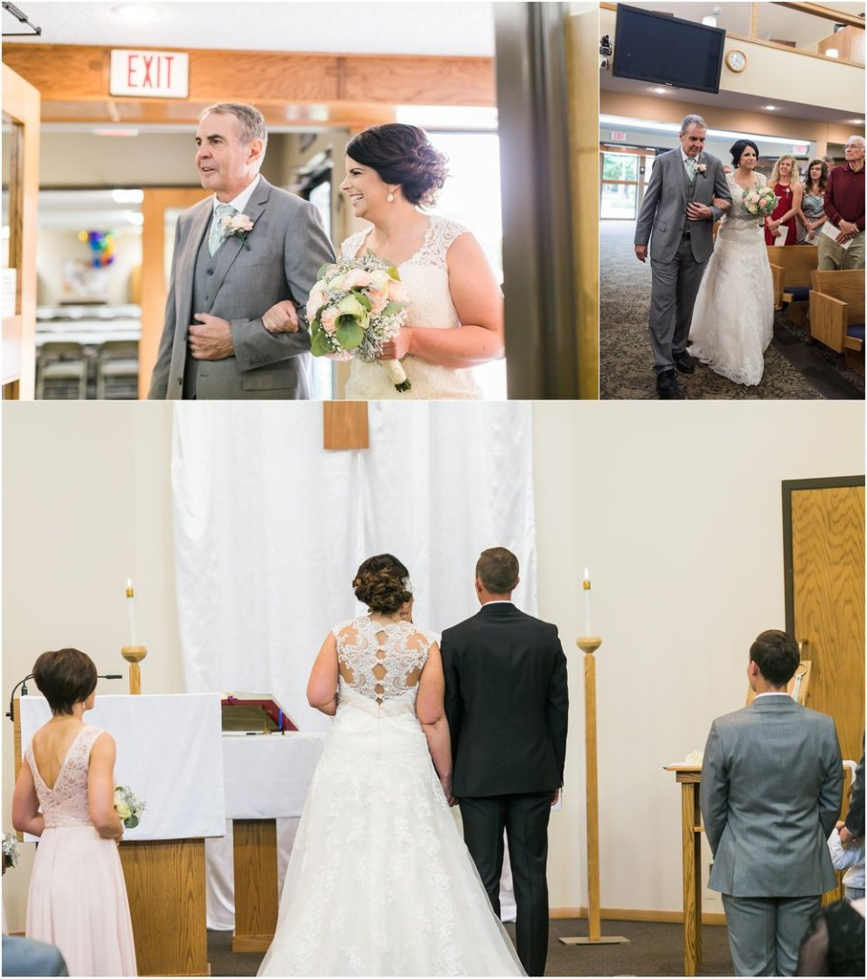 South Dakota church wedding ceremony | Maddie Peschong Photography