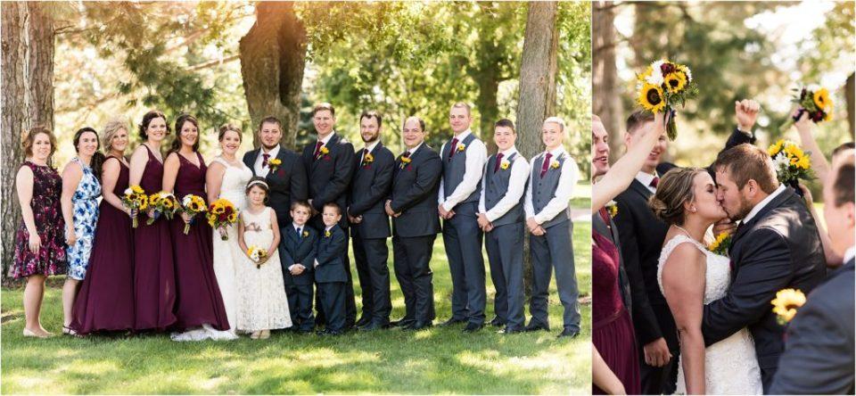 wedding party south dakota fall wedding
