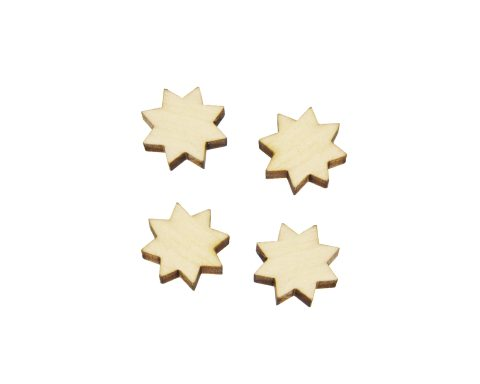 8 Pointed Stars Blank Wood Cabochons