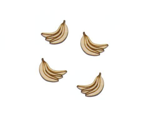 Bananas Engraved Wood Cabochons