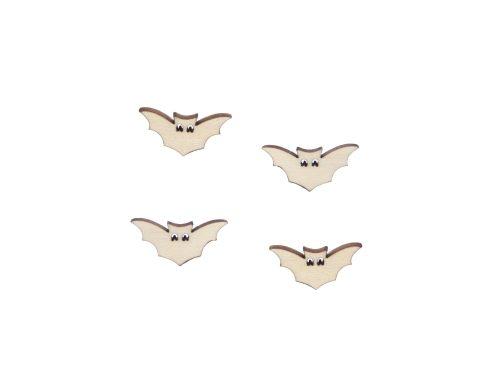 Bats 02 Blank Wood Cabochons