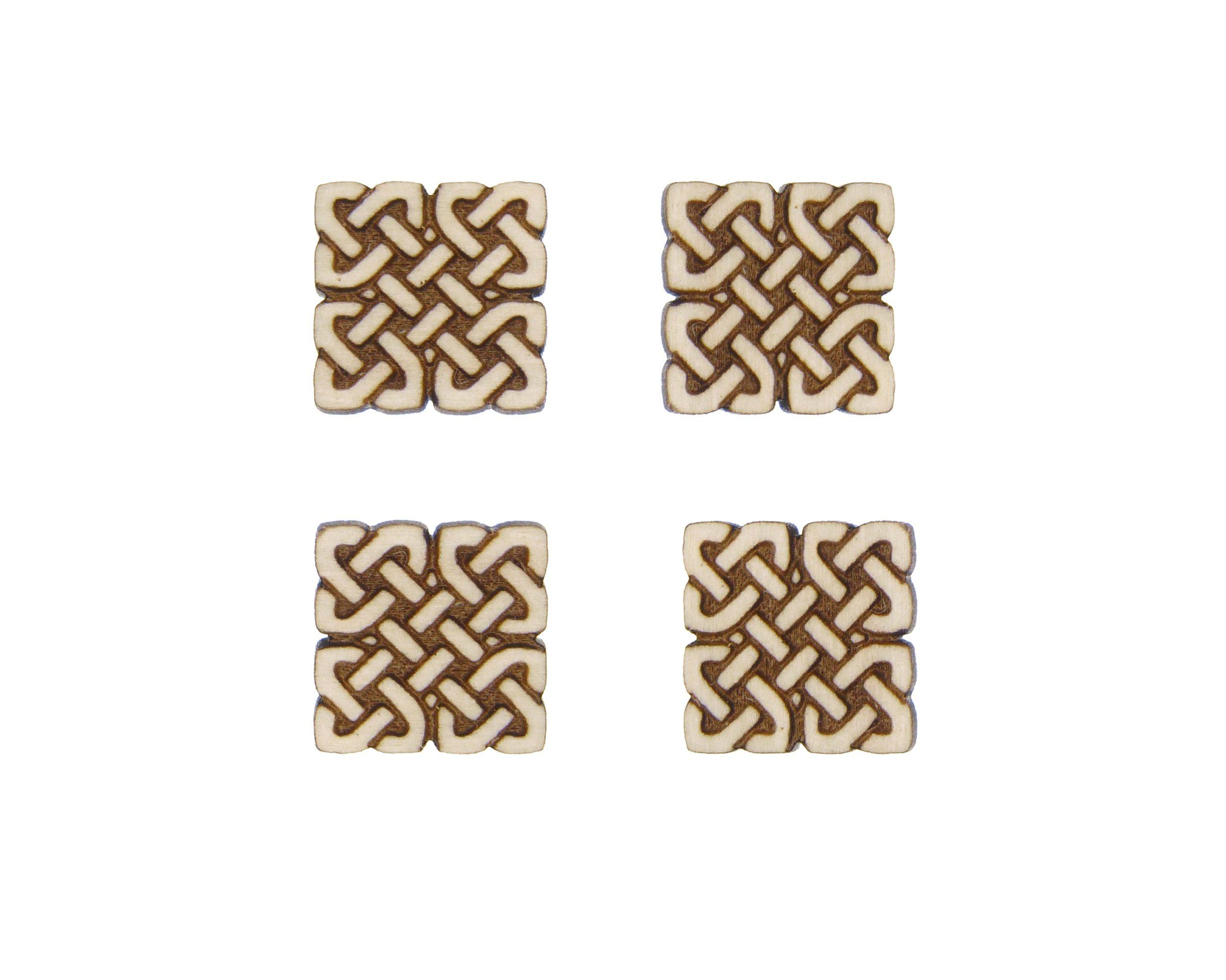 Celtic Knots 05 Engraved Wood Cabochons