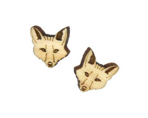 Foxes Larger Maple Hardwood Stud Earrings