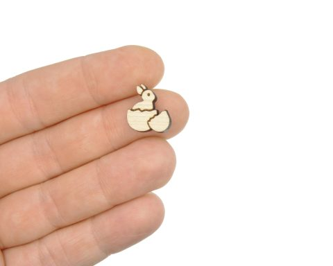 Hatched Bunny Engraved Wood Cabochons