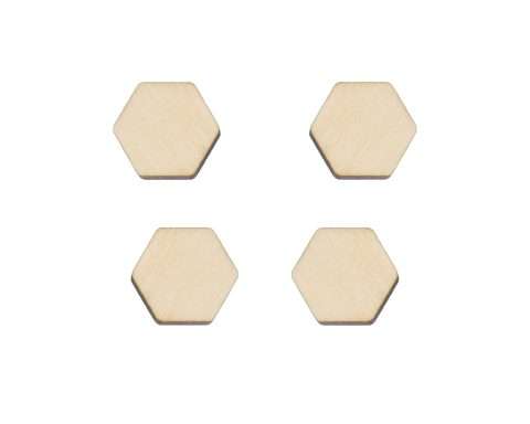 Hexagons Blank Wood Cabochons