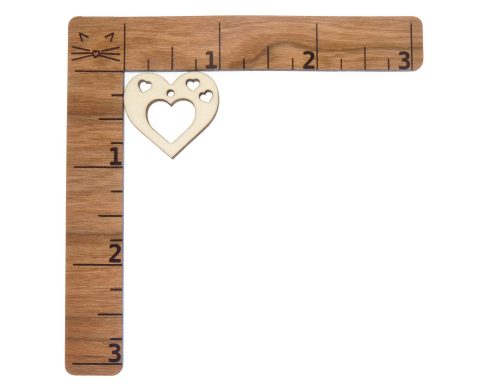 Open Hearts Blank Wood Drop Charms