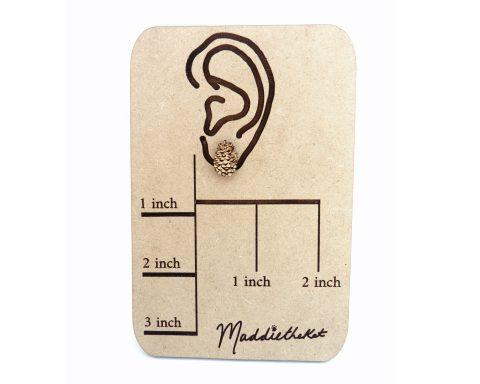 Pinecones Wood Stud Earrings | Hand Drawn