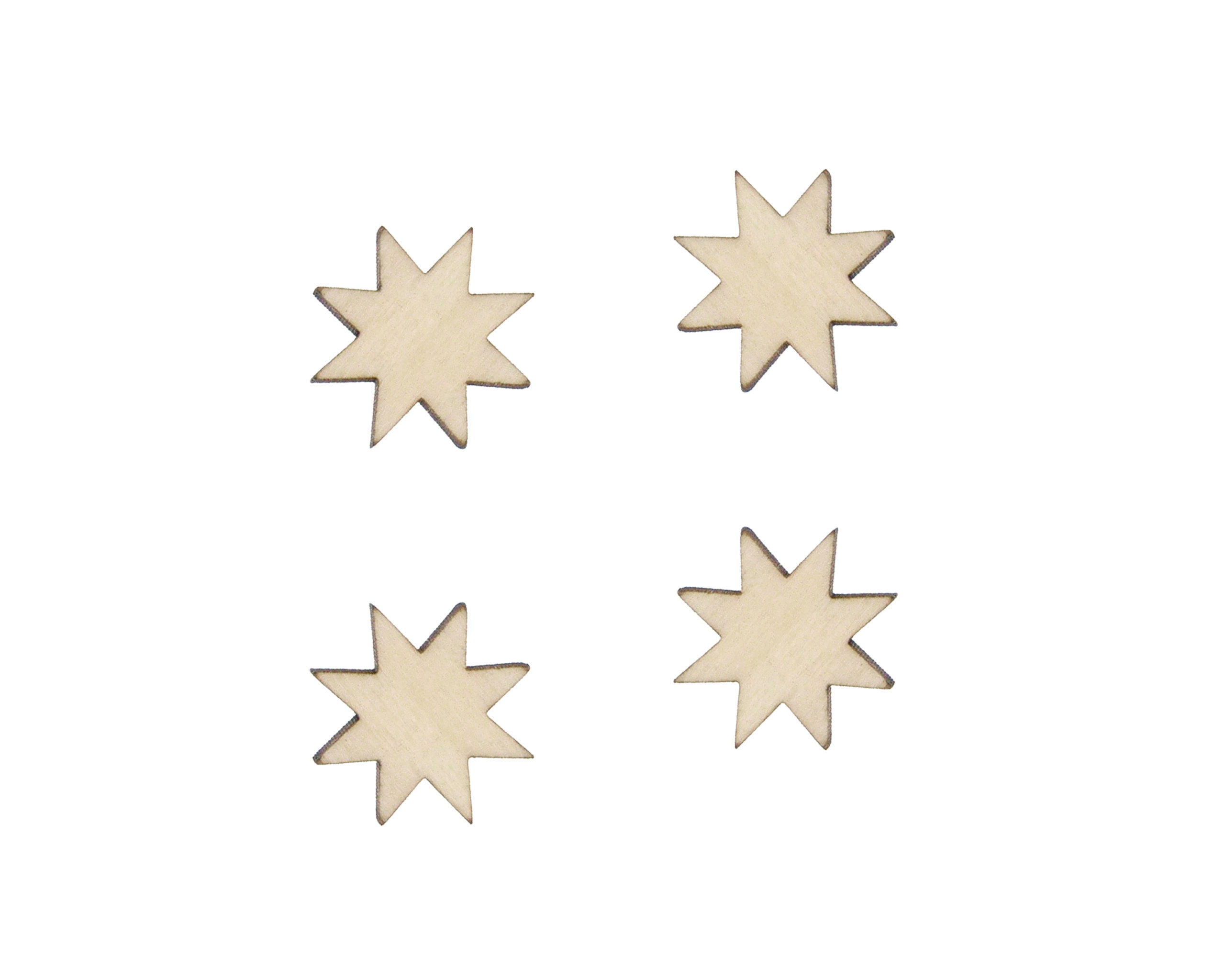 Quilting Stars Blank Wood Cabochons