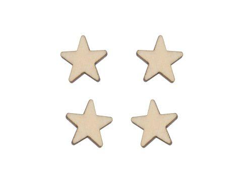 Stars Blank Wood Cabochons