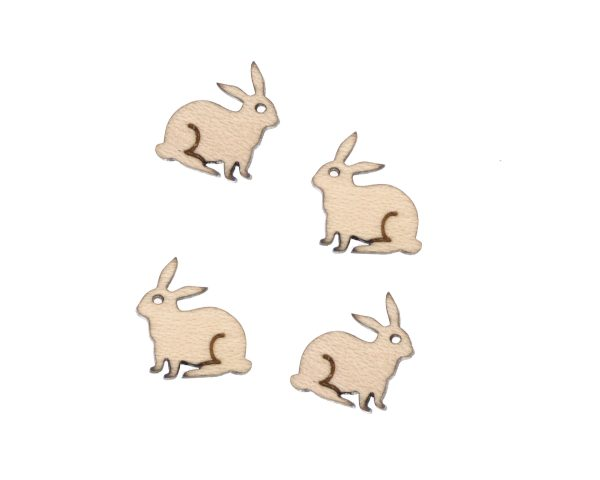 Bunny Engraved Wood Cabochons