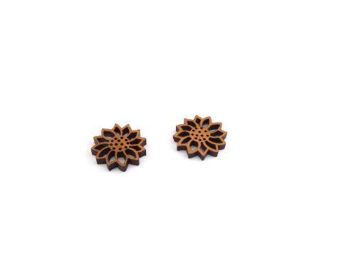 Flowers Wood Stud Earrings   Choose Wood