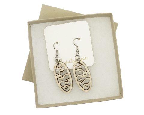 Twirly Whirl Maple Hardwood Earrings