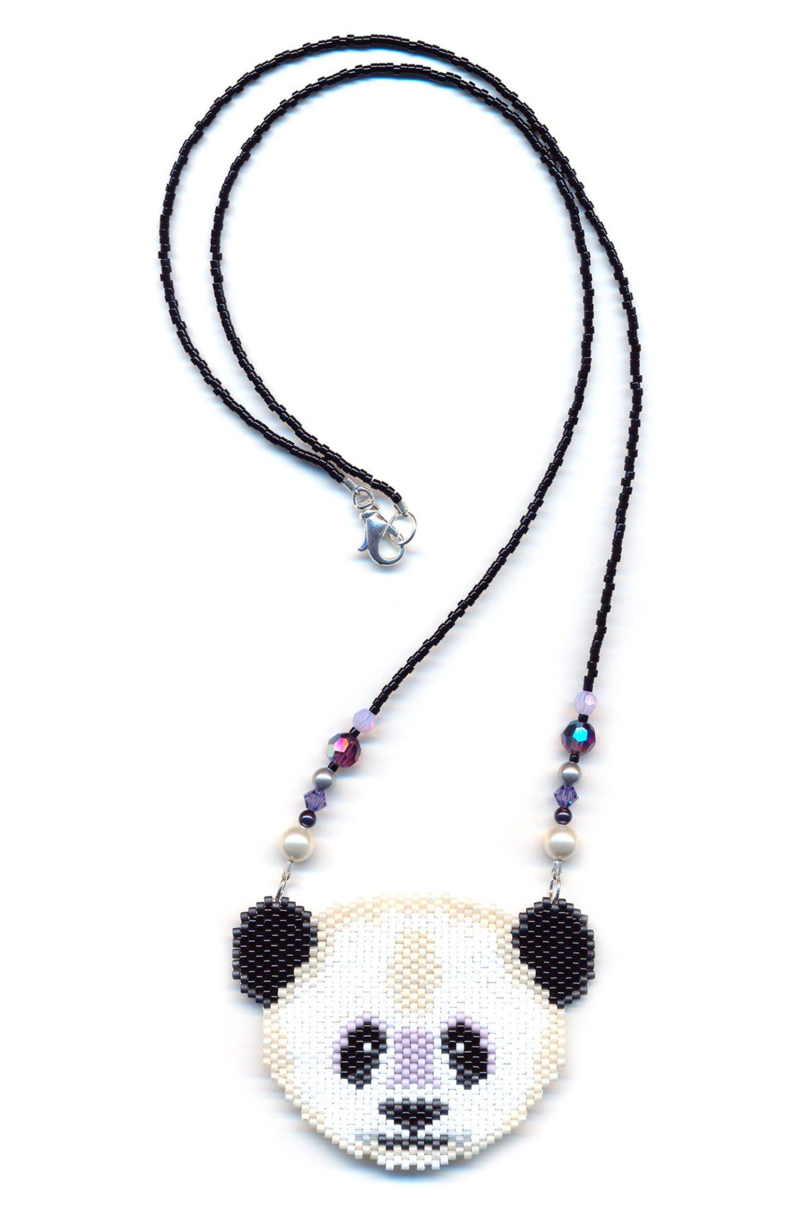 Panda Bear Beaded Necklace