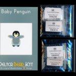 Baby Penguin Brick Stitch Seed Bead Pattern PDF or KIT DIY Bird Chick-Maddiethekat Designs