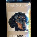 Black Dachshund Dog Larger Panel Peyote Seed Bead Pattern PDF or KIT DIY-Maddiethekat Designs