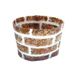 Brick Wall Wide Cuff 2-Drop Peyote Seed Beaded Bracelet-Maddiethekat Designs
