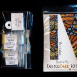 butterfly design bracelet delica peyote bead pattern or kit diy monarch viceroy maddiethekat designs 2