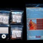 cardinal tiny mini amulet bag peyote seed bead pattern pdf or kit diy bird maddiethekat designs 2