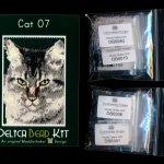Cat 07 Small Panel Peyote Seed Bead Pattern PDF or KIT DIY-Maddiethekat Designs