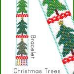 Christmas Trees Bracelet Delica 2-Drop Odd Count Peyote Bead Pattern or KIT DIY-Maddiethekat Designs
