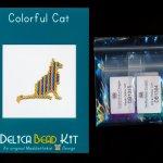 Colorful Cat Brick Stitch Seed Bead Pattern PDF or KIT DIY-Maddiethekat Designs