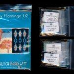 flamingo 02 tiny mini amulet bag peyote bead pattern pdf or kit diy bird maddiethekat designs 2