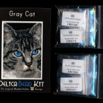 Gray Cat 01 Small Panel Peyote Seed Bead Pattern PDF or KIT DIY-Maddiethekat Designs
