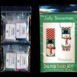 jolly snowman pendant delica peyote bead pattern or kit diy christmas maddiethekat designs 2
