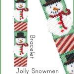 Jolly Snowmen Bracelet Delica Peyote Bead Pattern or KIT DIY Christmas Snowman-Maddiethekat Designs