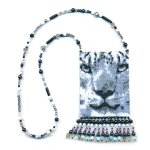 Leopard BW Small Panel Peyote Seed Bead Pattern PDF or KIT DIY-Maddiethekat Designs