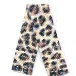 Leopard Fur Slim 2-Drop Peyote Seed Beaded Bracelet-Maddiethekat Designs