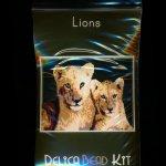 Lions Larger Panel Peyote Seed Bead Pattern PDF or KIT DIY-Maddiethekat Designs