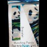 Munching Panda Bear Wide Cuff Bracelet Delica 2-Drop Peyote Bead Pattern or KIT DIY-Maddiethekat Designs