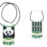 Panda Bear 03 Tiny Mini Amulet Bag Peyote Bead Pattern PDF or KIT DIY-Maddiethekat Designs