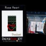 Red Rose Heart Pendant Delica Peyote Bead Pattern or KIT DIY-Maddiethekat Designs