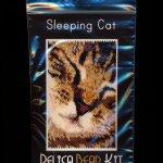 Sleeping Cat Small Panel Peyote Bead Pattern PDF or KIT DIY-Maddiethekat Designs