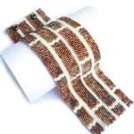 Brick Wall Wide Cuff Delica Seed Beaded Bracelet