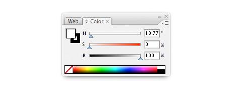 illustrator's colour palette