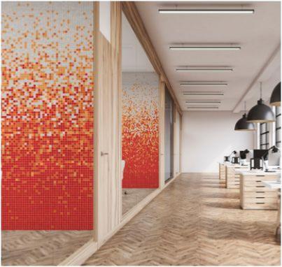 mosaique degradee blanc orange rouge jamaica 903 uni par 1 m