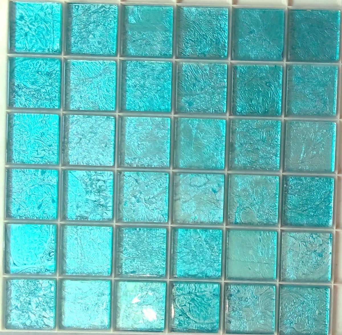 Mosaque carrelage et frise turquoise 48 cm par plaque  Achat mosaque carrelage