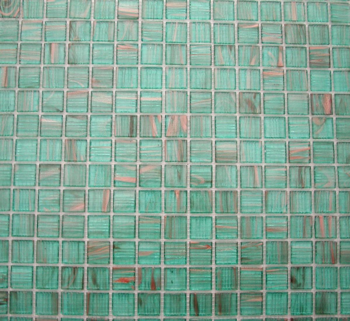 vert mosaique pate de verre vert turquoise aqua translucide gemme par m