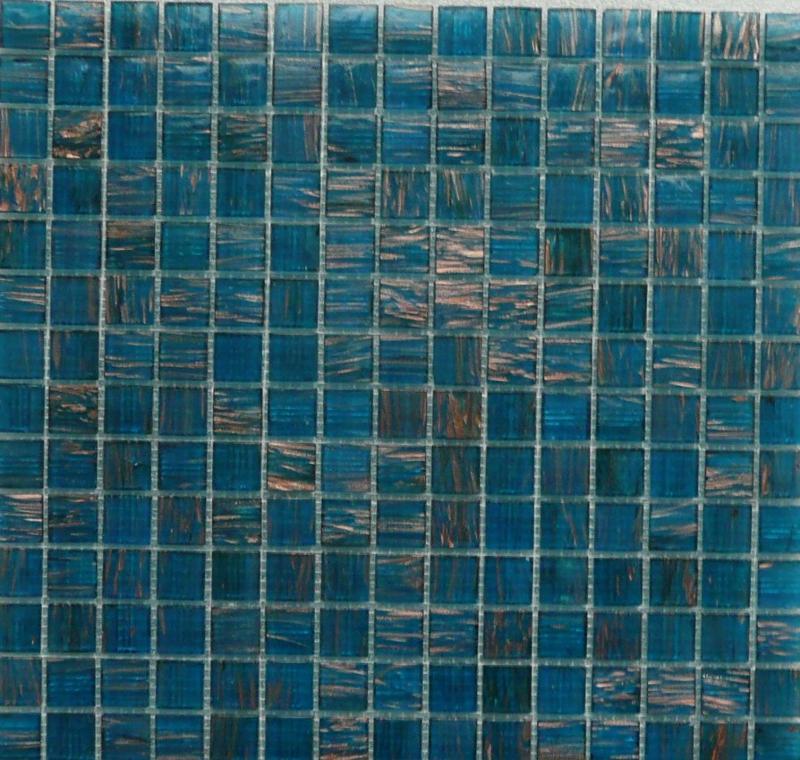 Mosaique pte de verre avec gemmes bleu turquoise plaquette  Mosaque ptes de verre
